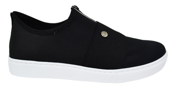 Tênis Feminino Via Marte Slip On 19-11404 Preto