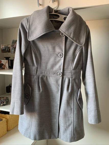 Casaco De Lã Comprido Siberian Cinza P