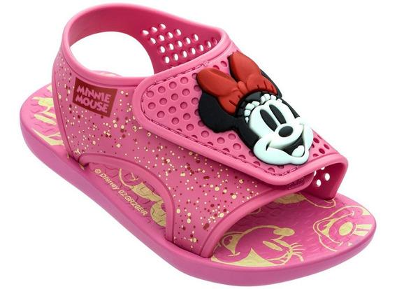 Sandálias Infantil Disney Minnie Mickey Baby Momentos