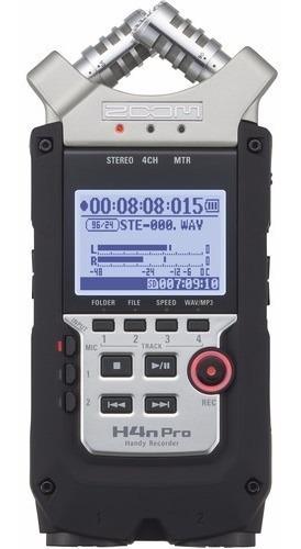 Gravador Áudio Zoom H4n Pro Digital 4 Canais 12x S/juros