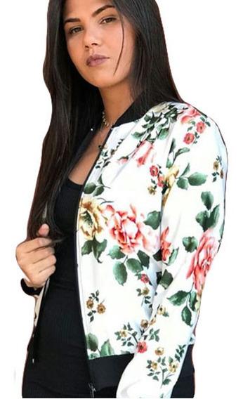 Jaqueta Bomber Florida Floral Flores Feminina Estampada Moda