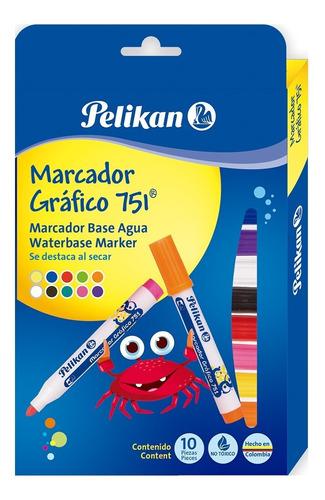 Estuche De Marcadores Gráficos X 10 Pelikan