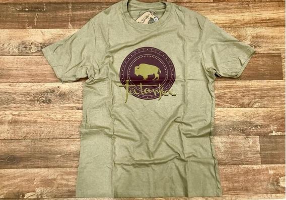 Camiseta Country Masculina Tatanka Marrom Mescla Original