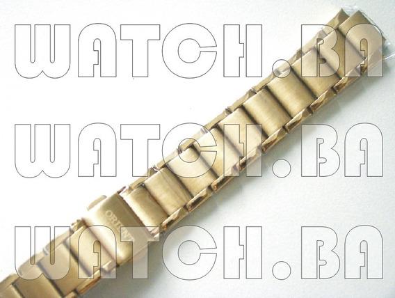 Pulseira Dourada Orient Fgss1059 - Nova, Original!