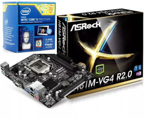 Combo Tarjeta Madre Asrock H81 Vg4 + Procesador Core I5 1150