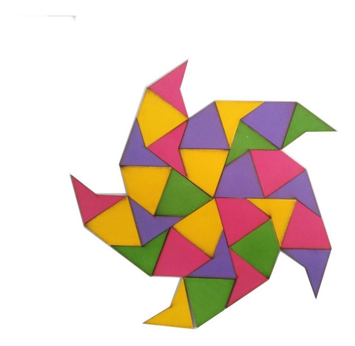 Imagen 1 de 2 de Ingeniacrea Puzzle De Madera Mosaicos De Penrose 40 Pzas