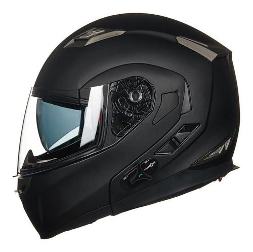Casco De Moto Con Intercomunicador Y Radio Fm - Abatible