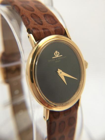 Relógio Nível Omega Ouro 18k Maciço Baume Mercier Safira - Rara Originalidade, Até A Pulseira - 13 Anos No Mercado Livre