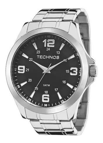 Relógio Technos Masculino Prateado Classic Steel 2035mdd/1p