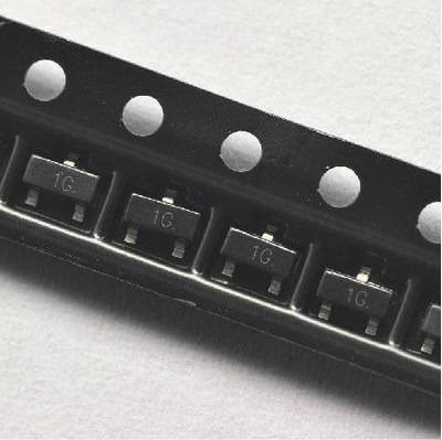 Transistor Smd Bc847 Sot-23 Npn - 1g - Original - 50 Peças