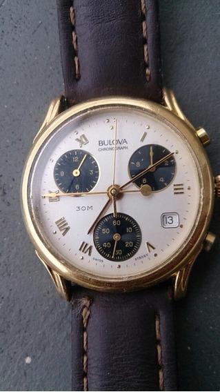 Relógio Bulova Suiço Chronograph 7 Ponteiros Raríssimo !!!