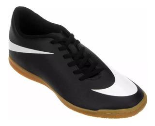 Chuteira Tênis Nike Futsal Bravata Ic Preto/branco 6421 Frete Grátis