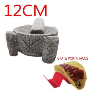Molcajete Mortero Mexicano 12 Cm En Piedra Volcánica