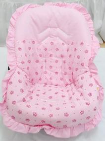 Capa Para Bebê Conforto Rosinha Com Estampinha Coroas
