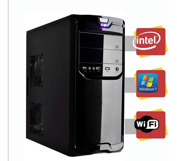 Computador Intel Dual Core 4gb Hd 320gb Windows 7 Com Wi-fi