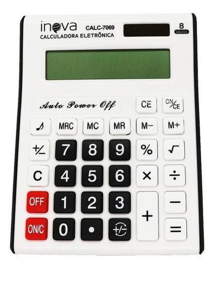 Calculadora De Mesa Comercial Escritório Display 8 Digitos