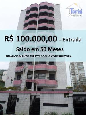 Apartamento Em Praia Grande,r$ 100.000,00 De Entrada,01 Dormitório Sendo 01 Suite. Prédio Com Lazer Na Aviação Ap1711 - Ap1711
