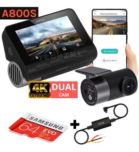 Camera Veicular Automotiva Xiaomi 70mai A800s + 64gb + Cabo