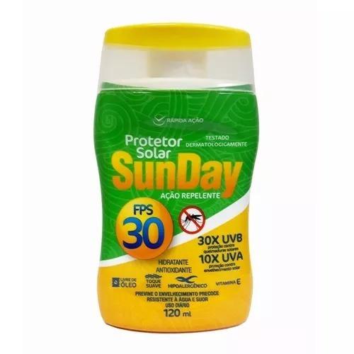 Protetor Solar Bloqueador Fps 30 Nutriex Sunday C Repelente