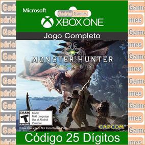 Monster Hunter World Xbox One Código Em 12x Sem Juros