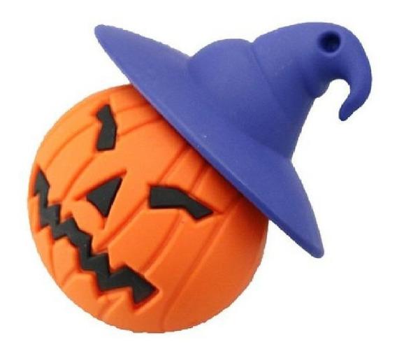 Pendrive 32 Gb Halloween Dia Das Bruxas Abobora Fantasma Cabeça De Abobora