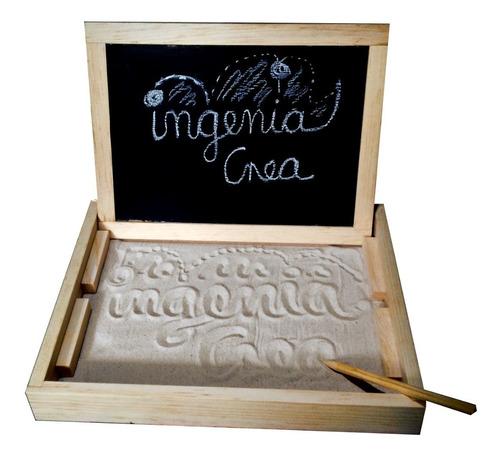 Imagen 1 de 8 de Ingeniacrea Bandeja Montessori+pizarra + 3 Juegos D Tarjetas