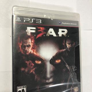 Juego Ps3 Fear 3 Shooter Accion Sellado Nuevo!!