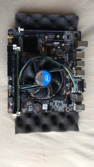 Kit 3° Geração 1155 Dual Core 4gb Ram Placa Mãe Processador