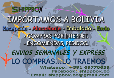 Importaciones Desde Ee.uu. A Bolivia Rapido Y Seguro.