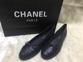 b331ea3087 Sapatilha Chanel Couro Legitimo