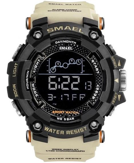 Relógio Smael 1802 Digital Tático Caixa Grande Prova D