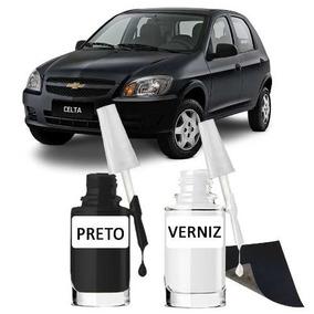 Tinta Tira Risco Automotivo Chevrolet Celta Preto Cor Origin