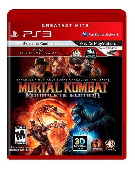 Mortal Kombat 9 Komplete Edition - Ps3 - Novo - Mídia Física