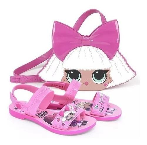 Sandalia Infantil Barbie Magic Bag Duo Com Bolsa Gratis