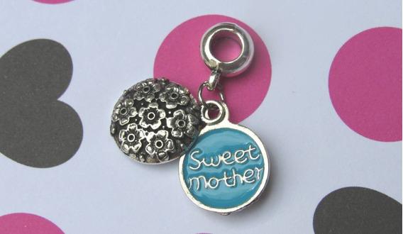 Charm Pingente Para Pulseira Sweet Mother Mãe Delicado
