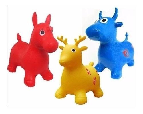Imagen 1 de 3 de Muñeco Saltarín Inflable Con Sonido Vaca Juego Colores