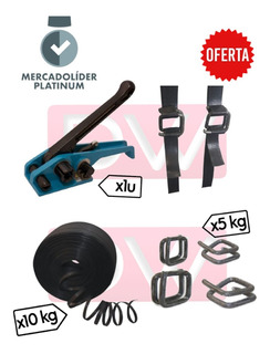 Kit Sunchadora Flejadora Estirador + Fleje + Hebillas Oferta