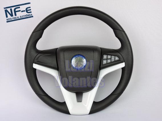 Volante Esportivo Cruze Branco Comando De Som Mercedes Benz