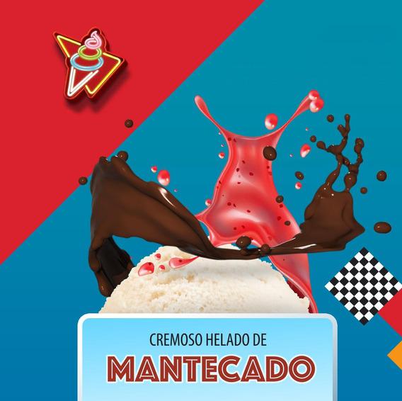 Helado Cremoso De Mantecado 4 Litros