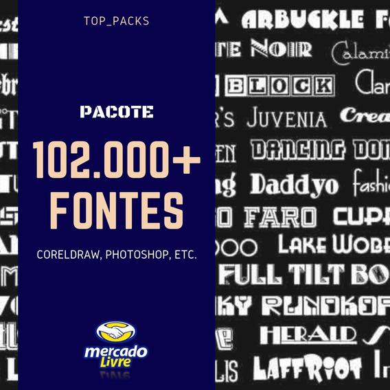 Pacote Com 102.000 Fontes Para Design - Entrega Rápida