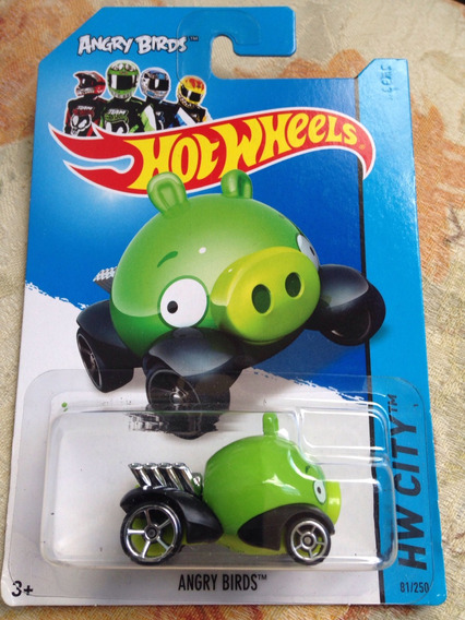 Bx134 Hw Angry Birds Hot Wheels Porco Jogo App