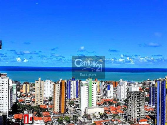 Apartamento Com Linda Vista Para O Mar E 4 Dormitórios À Venda Em João Pessoa- Aceita Permuta Com Apartamento Em Indaiatuba! - Ap0232