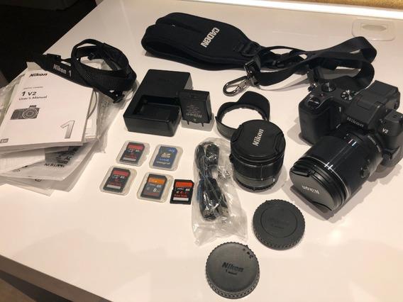 Nikon 1 V2 + Lentes 10-100 E 6,7-13mm+cartão Sd+quickstrap