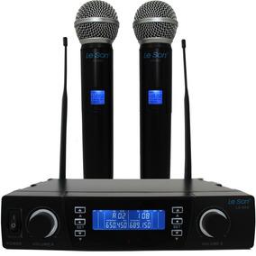Microfone Lsx02 Digital Dual System+maleta Lançamento Leson