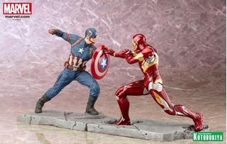 Kotobukiya Capitan America Vs Iron Man Artf-x Loose -asgard