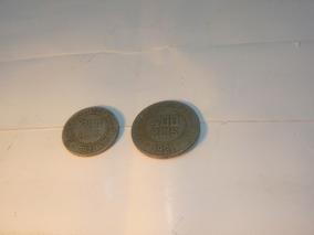 Moedas 400 Reis De 1921 E 200 Reis 1921