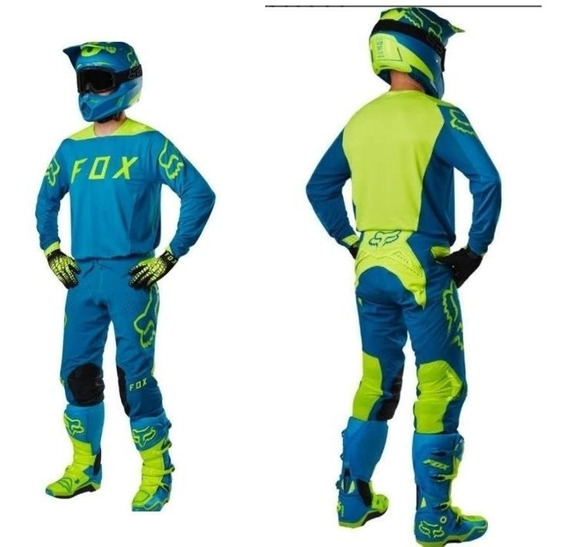 Traje Para Motociclista Fox Flexair 360 Turquesa