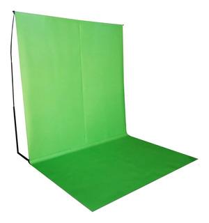 Fondo Infinito Croma Key Verde 2x2 Con Estructura Y Piso!!