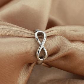 Anel Simbolo Infinito Em Prata Legitima 950 Feminino Laço