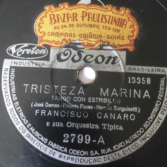 Lp 10 Francisco Canaro - Tristeza Marina - El Gallo